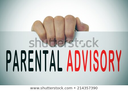 Man holding Parental advisory message Stock photo © stevanovicigor