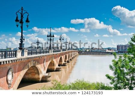 öreg híd Bordeau Franciaország Európa víz Stock fotó © ilolab