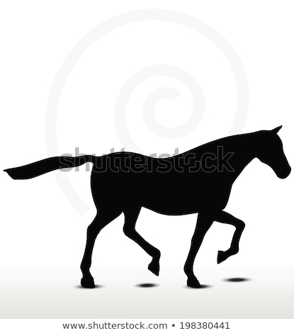 Stock photo: Horse Silhouette In Loping Position