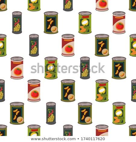 Seamless Corn (Tinned) Texture Tile Background Stock photo © grasycho