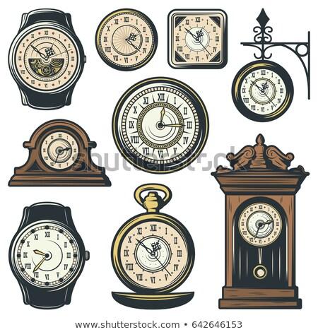 relógio · engrenagens · branco · trabalhar · tempo · máquina - foto stock © amok