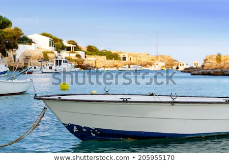 little Boat on a sea loch, Menorca Stock photo © diabluses