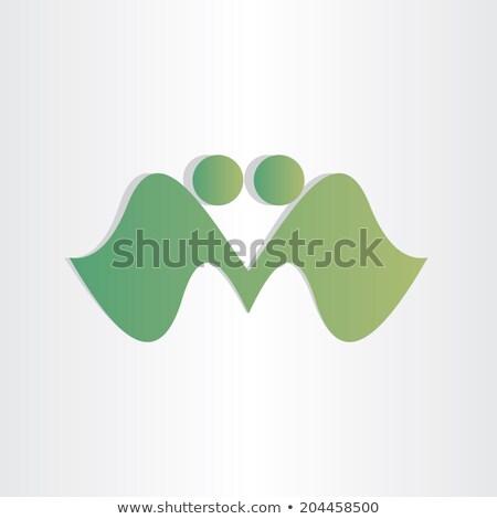 letter · m · overeenkomst · mensen · handdruk · icon · ontwerp - stockfoto © blaskorizov