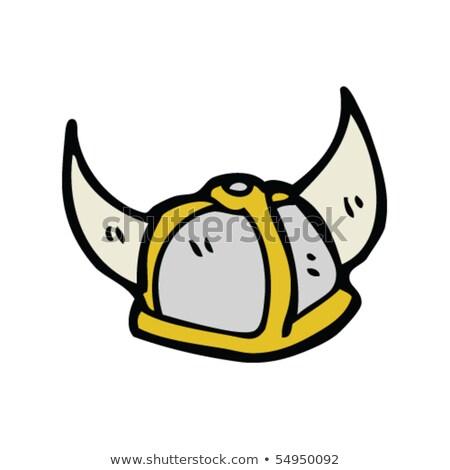 Sketch cute viking helmet Stock photo © kali