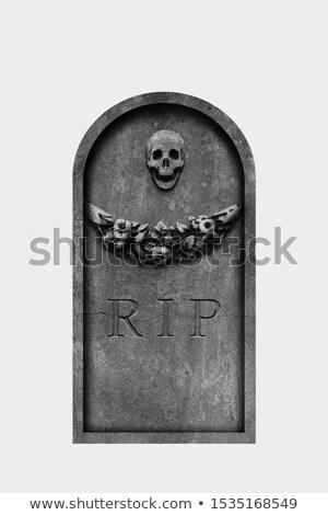 ハロウィン 墓石 白 怖い ストックフォト © lucielang