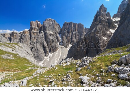 Vadi yaz manzara dağ kar Stok fotoğraf © Antonio-S