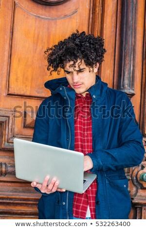 Man wearing jacket with hoodie Stock photo © stevanovicigor