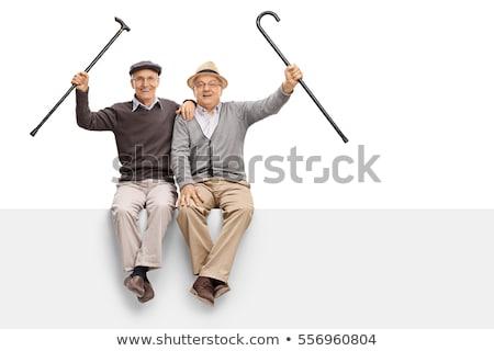 Dois branco homens cinema Foto stock © mayboro1964