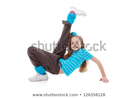 energikus · táncosok · négy · fiatalok · tánc · mosoly - stock fotó © blanaru