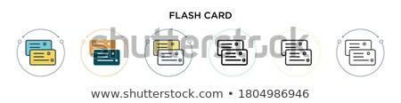Wektora usb flash karty ikona niebieski Zdjęcia stock © aliaksandra