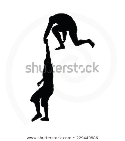 силуэта два старший мужчин команда Сток-фото © Istanbul2009