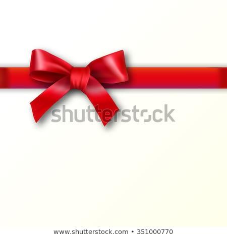 красный кремом лента звездой Сток-фото © liliwhite
