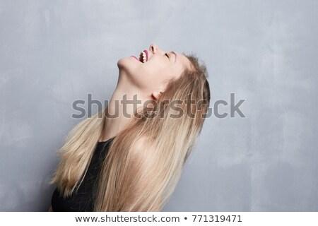Portret blond superstar jonge naakt meisje Stockfoto © majdansky