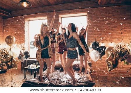 Parti dansçı örnek siluet erkek seksi Stok fotoğraf © lenm