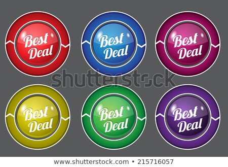 Stock photo: Best Deal Green Circular Vector Button