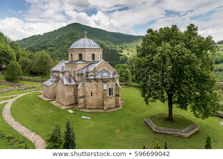 Monasterio edad iglesia Christian Serbia Foto stock © arvinproduction