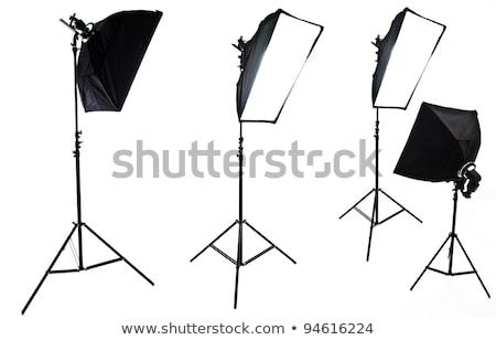 Studio flash świetle polu czarny elektryczne Zdjęcia stock © deandrobot