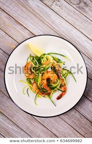 Gegrild groenten mosterd saus pompoen Stockfoto © travelphotography