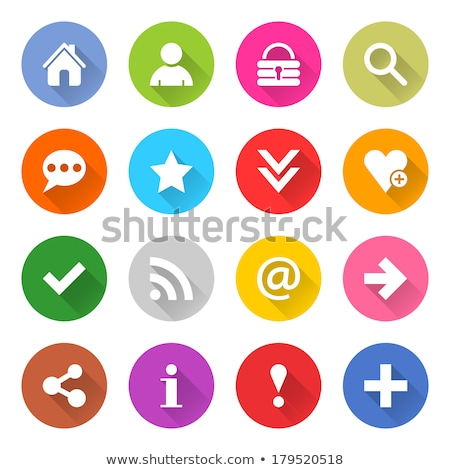 Rss vector paars web icon knop Stockfoto © rizwanali3d
