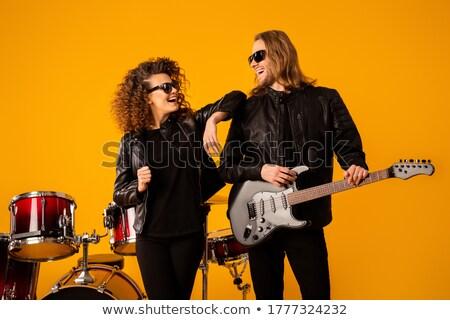 Portrait Of Girl Holding Metal Team Stock photo © AndreyPopov