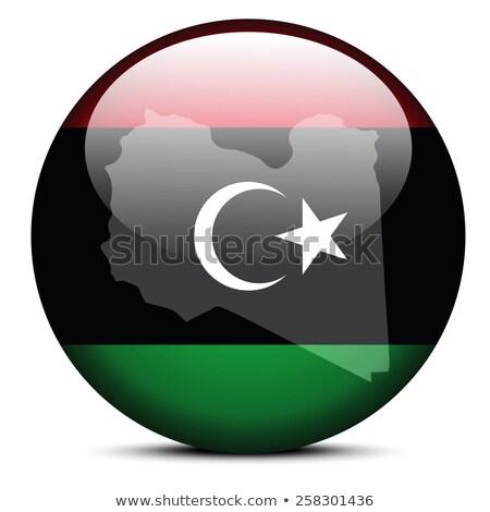 リビア · 政治的 · 地図 · 重要 · 都市 - ストックフォト © istanbul2009