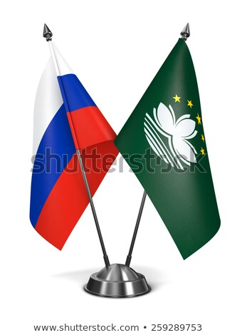 Russia and Macau - Miniature Flags. Stock photo © tashatuvango
