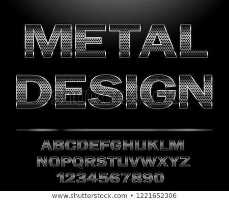 металл образование текста изолированный белый знак Сток-фото © bosphorus