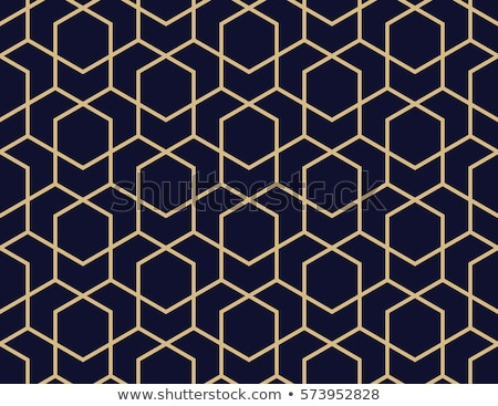 Vector  Seamless Pattern with Blue Hexagons stock photo © alexmakarova