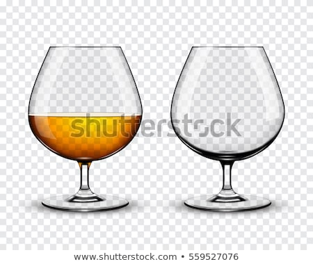 Vidro brandy gelo garrafa preto Foto stock © grafvision