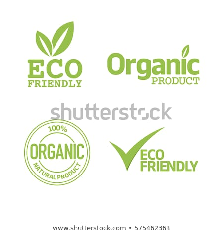 Stock photo: green eco friendly  labels