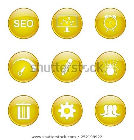SEO Internet Sign Yellow Vector Button Icon Design Set 8 Stock photo © rizwanali3d
