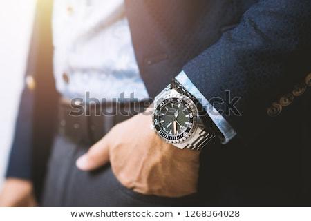 Rozsdamentes acél óra csendélet kép kéz fém Stock fotó © Ronen