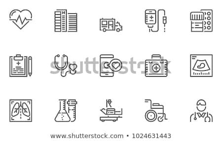 Oltás orvosi szolgáltatások ikon terv izolált Stock fotó © WaD