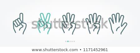 human hand fingers symbol Stock photo © blaskorizov