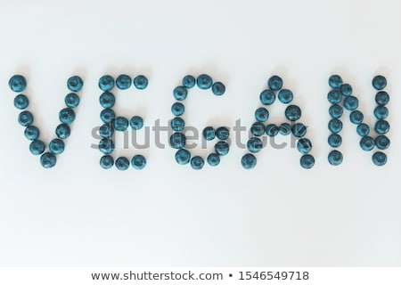 Foto d'archivio: Letters Made Of Vegetables