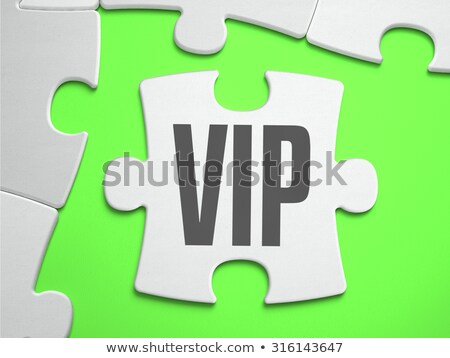 vip   jigsaw puzzle with missing pieces stock photo © tashatuvango