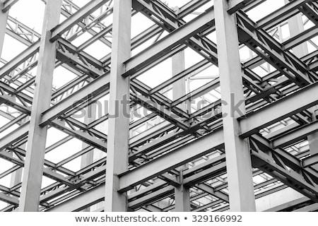詳細 トラス 構造 建設現場 金属 産業 ストックフォト © user_9323633