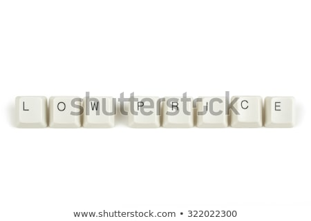 price from scattered keyboard keys on white Stock photo © artush
