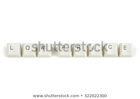 цен клавиатура ключами белый текста изолированный Сток-фото © artush