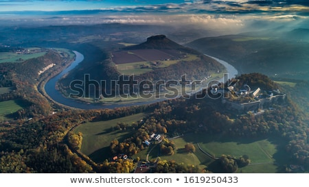 Dresden aerial view Stock photo © unkreatives