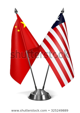 China Libéria miniatura bandeiras isolado branco Foto stock © tashatuvango