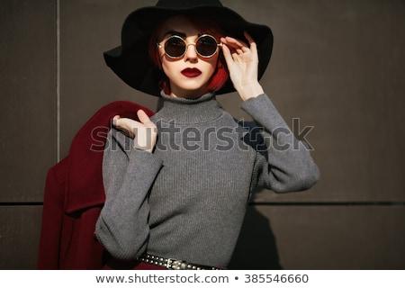 Fashion model woman in sun glasses, Vogue girl Stock photo © Victoria_Andreas