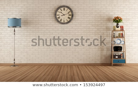 Сток-фото: пусто · Vintage · комнату · интерьер · белый · кирпичная · стена