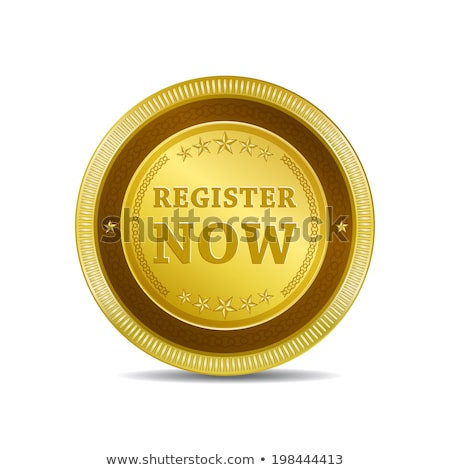 Stock photo: Register Now golden Vector Icon Design