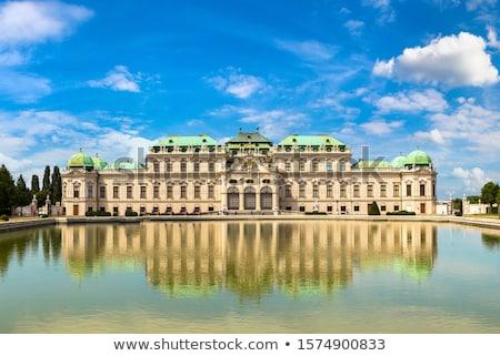 barokk · kastély · Bécs · Ausztria · virágok · épület - stock fotó © vladacanon