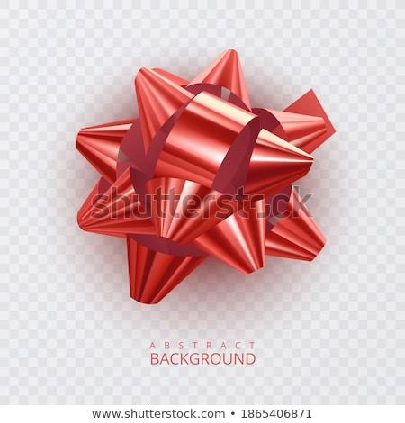 Rood · satijn · lint · eps · 10 - stockfoto © beholdereye