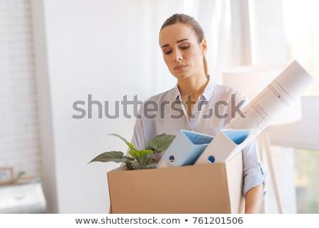 Trabalho negócio empresário olhando sombra assinar Foto stock © Lightsource