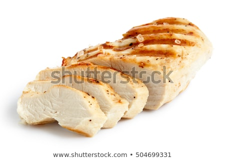 csirkemell · filé · szeletel · fészek · saláta · pázsit - stock fotó © digifoodstock