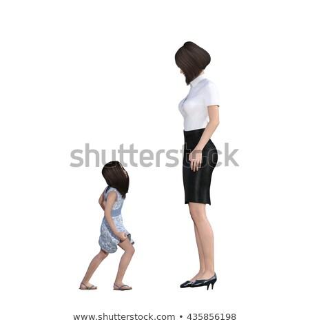 Mother Daughter Interaction Of Rebellious Child Foto stock © kentoh