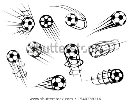 soccer ball is in goal net Stock photo © ssuaphoto